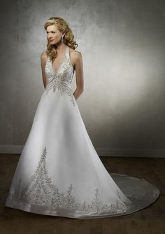 plus size halter top wedding dresses - Google Search