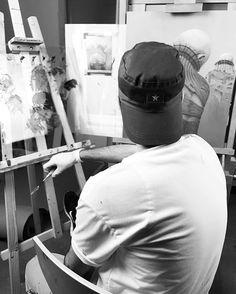 Finishing my next artwork.
