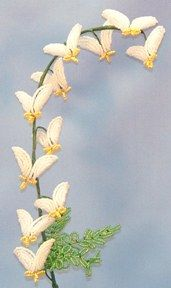 Dutchman's Breeches French Bead Flower Pattern at Sova-Enterprises.com Many FREE Bead Patterns and Tutorials available!