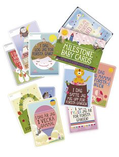 Milestone Baby Cards - Svenska
