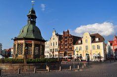 Alemania 30 Centros históricos de Stralsund y Wismar  En los siglos XIV y XV, las ciudades medievales de Wismar y Stralsund, situadas en la costa báltica de la Alemania septentrional, fueron centros comerciales importantes de la Liga Hanseática.
