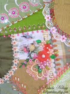 Crazy Quilting and Embroidery Blog by Pamela Kellogg of Kitty and Me Designs: New Crazy Quilt Projects