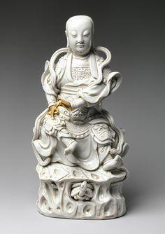 Zhenwu, Lord of the Northern Palace, Qing dynasty, Kangxi period (1662–1722), early 18th century  China  Porcelain with clear glaze (Dehua ware [blanc de Chine], Fujian Province)