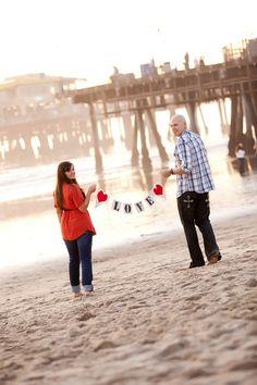 Santa Monica, California beach engagement by Meghan Wiesman Photography We love la! Beach Engagement, Engagement Couple, Engagement Pictures, Wedding Pictures, Engagement Session, Engagement Ideas, Wedding Ideas, Life Photography, Engagement Photography