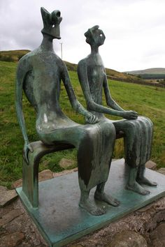 by Henry Moore. [Image #3 of Week: Sept 16th - 20th] I love these two figures, and the obscured nature of the couple's face. It feels as though they have no individuality, except the shape and size of their bodies, and they seem like a single being.