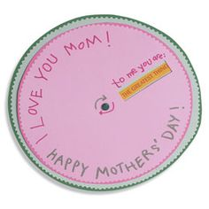 I love you mum, spinning card