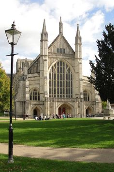 Winchester Cathedral is a Church of England cathedral in Winchester, Hampshire, England. It is one of the largest cathedrals in England, with the longest nave and greatest overall length of any Gothic cathedral in Europe. Dedicated to the Holy Trinity, Saint Peter, Saint Paul, and Saint Swithun, it is the seat of the Bishop of Winchester and centre of the Diocese of Winchester.