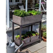Garden Anywhere Fiber Cement Planter Bench 93-117-5101