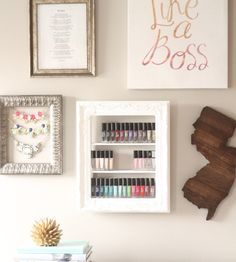 Nail Polish Rack  Nail Polish Storage Nail Polish by pinkofperfect