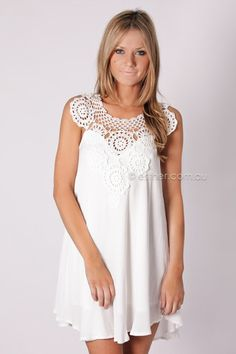 cosmic dust dress- white