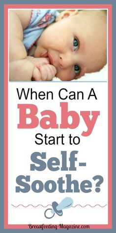 At what age can a baby start to self soothe? #momtips #selfsoothe #baby