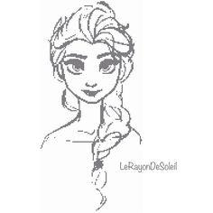 Disney Cross stitch pattern Elsa Frozen by LeRayonDeSoleil on Etsy