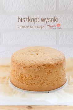 Sponge High - always successful! Polish Desserts, Polish Recipes, Just Desserts, Sweet Recipes, Cake Recipes, Dessert Recipes, Lime Cake, Pumpkin Cheesecake, Sweet Cakes