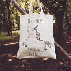 Einhorn-Einkaufstasche  Öko Baumwolle von WooodlandFactory auf Etsy