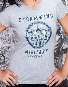 J!NX : World of Warcraft Stormwind Military Academy Women's Tee - Clothing Inspired by Video Games & Geek Culture