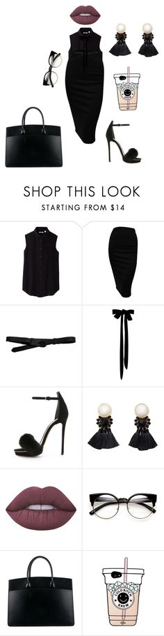 """""""#"""" by lena1612 ❤ liked on Polyvore featuring Uniqlo, Lowie, Monique Lhuillier, Violeta by Mango, Lime Crime and Hermès"""