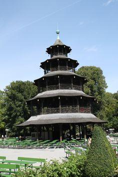 English Garden in Munich - Chinese Tower Beergarden