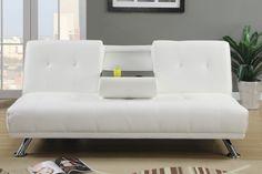 un canapé blanc et fonctionnel avec un mécanisme clic clac
