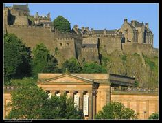 View of Edinburgh Castle and the