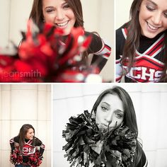 If I was a cheerleader....such cute senior picture poses!