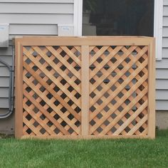 Found it at Wayfair - 3 Ft. W x 3 Ft. D Air Conditioner/Generator Enclosure Pool Equipment Enclosure, Pool Equipment Cover, Outdoor Rugs, Outdoor Living, Outdoor Decor, Arbors Trellis, Yard Games, Woodworking Projects, New Homes