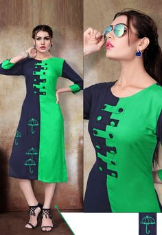 Description:- Designer Casual Rayon Straight Kurti Top Length:- Upto 48 Inches Stitched Type:- Stitched Sleeve Type:- Sleeve Neck Type:- Round Neck Occassion:- All Season Kurti Sleeves Design, Kurta Neck Design, Neck Designs For Suits, Dress Neck Designs, Stylish Dresses, Fashion Dresses, Beautiful Dress Designs, Kurti Patterns, Salwar Pattern