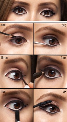This year eyeliner has gone graphic. Here's how to do modern 60s eye makeup with flicks on the top and bottom lashlines in six simple steps. Comments comments Related posts: No related posts.