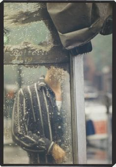 Saul Leiter (American, 1923 - 2013): 'Rain'.
