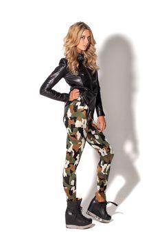 GI Jane Leggings by Black Milk Clothing