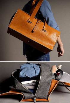 I have an embarrassingly high number of leather bags for a male.  Even so, this one is tempting.