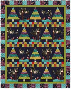 Fox Woods quilt I love how the fox change in each block.  would love to make this soon.