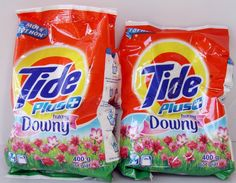 2 Tide Plus Downy Powder Laundry Detergent 14 oz. (400 g) each Total 16 Loads ♫❤ #Tide