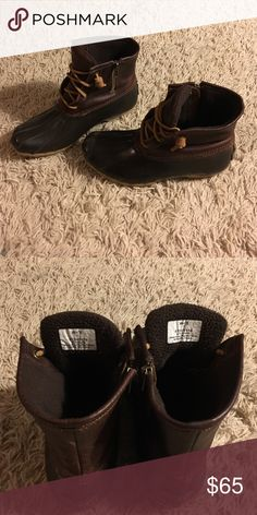 Sperry Top- Sider Duck Boot Brown Waterproof Sperry Boots, Women's Size 7, Good condition! Sperry Shoes Winter & Rain Boots