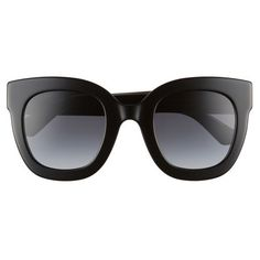 Women's Gucci 49Mm Cat Eye Sunglasses (3 280 SEK) ❤ liked on Polyvore featuring accessories, eyewear, sunglasses, glasses, glasses/sunglasses, cat eye glasses, star eyewear, star glasses, sparkly glasses and cat eye sunglasses