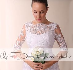 Wedding/Recepyion/knee length/ lace dress/ open back/ Bridal Gown by UpToDateFashion on Etsy https://www.etsy.com/listing/249991490/weddingrecepyionknee-length-lace-dress