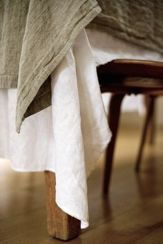 Rough Linen White Tablecloth | Remodelista