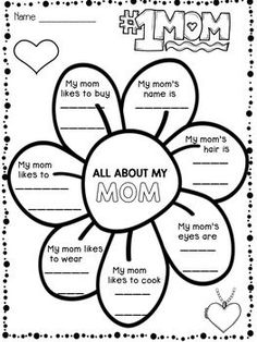 Mother's Day - Mother's Day Writing Activities:This product contains 3 pages with writing activities for Mother's Day.The students will complete sentences about their mom and color the pictures.Happy teaching!Christian's Learning Center