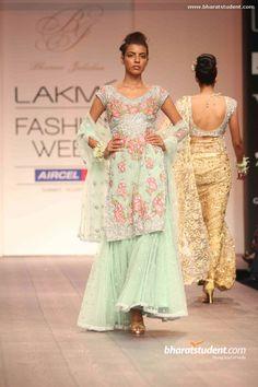 Bhairavi Jaikishan's Show at Lakme Fashion Week Summer/Resort 2013 Sharara, Anarkali, Salwar Kameez, Lehenga, W Dresses, Elegant Dresses, Fashion Dresses, Pretty Outfits, Pretty Dresses