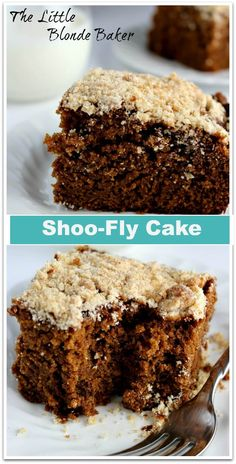 Shoo-Fly Cake. A very moist and rich molasses tasting cake. A great Pennsylvania Dutch recipe. Can make with a butter substitute for dairy free