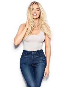 @goodamerican: How stunning is @khloekardashian wearing Good Waist Blue013 in @healthmagazine's January/February 2017 issue?  Shop Khloé's jeans by tapping the link in our bio #goodsquad #goodwaist