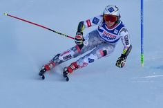 Liechtenstein's Tina Weirather competes during the FIS Alpine World Cup Women Giant Slalom on December 10, 2016 in Sestriere, Italian Alps.  / AFP / GIUSEPPE CACACE