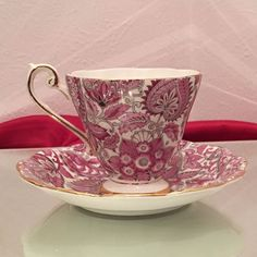 Royal Standard Fine Bone China Tea Cup & Saucer Pink Chintz Pattern # 1445 #RoyalStandard