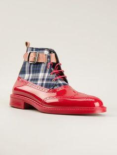 Vivienne Westwood Tartan Print Lace-up Boots - Farfetch