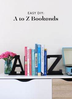 Easy DIY: A to Z bookends
