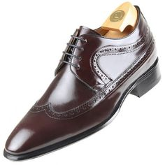 Zapatos Oxfords para Hombres con Cuero Interior Elevado para Aumentar la Altura CHAMARIPA Zapatos con Alzas Hombre 8cm