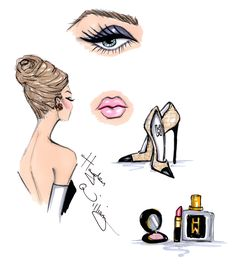 Fashion illustrations and designs by Hayden Williams
