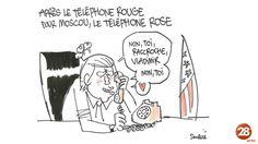 Soucié  (2017-05-19) USA: Donald Trump:   Après le téléphone rouge, le téléphone rose ! Par @tsoulcie !