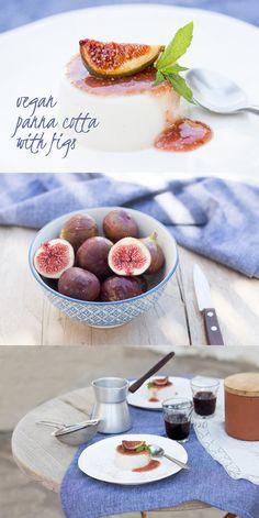 Vegan Panna Cotta with Figs // coconut cream, agar agar flakes, maple syrup, vanilla pod, figs, lemon juice
