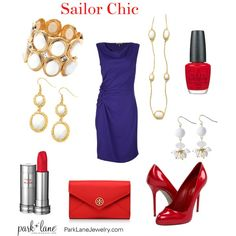 Sailor Chic - Park Lane Jewelry Featured: Santorini Bracelet, Sorbet Necklace, Sorbet Pierced Earrings, and Maui Pierced Earrings.    http://www.myparklane.com/chinton  Visiting from Promoting Direct Sales.  https://www.facebook.com/pages/Park-Lane-Jewelry-Cheryl-Hinton/155327374542857