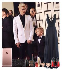 """Grammy's with Jaxon and Justin"" by mrs-styles0102 ❤ liked on Polyvore featuring Jenny Packham, Christian Louboutin, Chanel, Michael Kors, MAKE UP FOR EVER, Elie Saab, women's clothing, women, female and woman"
